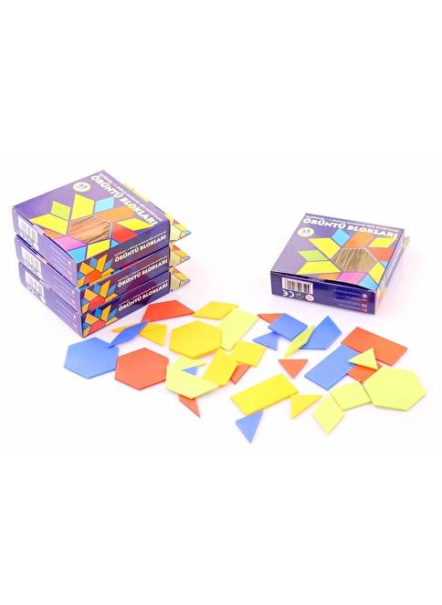 Learning Toys 4 Kit Renkli Örüntü Blokları Seti Renkli